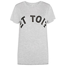 Buy Whistles Et Toi Logo T-Shirt, Grey Marl Online at johnlewis.com