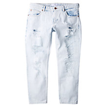 Buy Mango Relax Crop Jeans, Open Blue Online at johnlewis.com