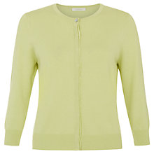 Buy Kaliko Grosgrain Trim Cardigan, Light Green Online at johnlewis.com
