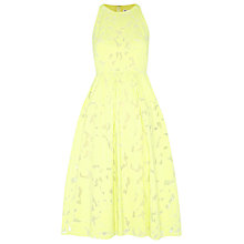 Buy Whistles Leanora Burn Out Dress, Yellow Online at johnlewis.com