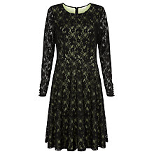 Buy Kaliko Contrast Skater Dress, Black Online at johnlewis.com