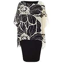 Buy Phase Eight Estel Floral Dress, Black/Cream Online at johnlewis.com