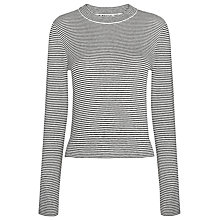 Buy Whistles Striped Cropped Crew Neck Knitted Top, Blue Multi Online at johnlewis.com