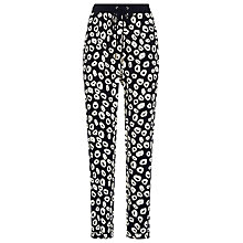 Buy Whistles Helena Loop Print Trousers, Blue Online at johnlewis.com