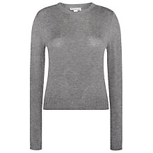 Buy Whistles Cropped Annie Sparkle Jumper, Grey Online at johnlewis.com