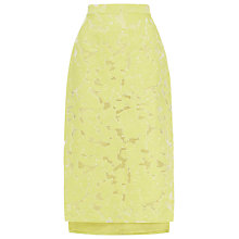 Buy Whistles Leanora Burn Out Skirt, Yellow Online at johnlewis.com