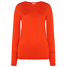 Buy Whistles Annie Sparkle Knitted Jumper, Red Online at johnlewis.com