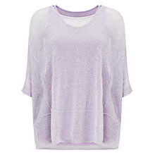 Buy Phase Eight Sana Sheer Knit Top, Soft Lilac Online at johnlewis.com