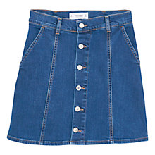 Buy Mango Button Denim Skirt, Open Blue Online at johnlewis.com
