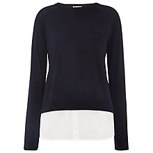Buy Whistles Layered Silk Knit Jumper Online at johnlewis.com