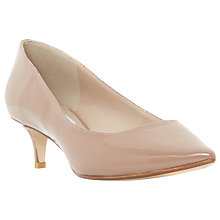 Buy Dune Annielou Patent Pointed Court Shoes, Taupe Online at johnlewis.com