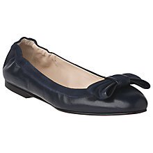 Buy L.K. Bennett Zelda Leather Ballerina Bow Pumps Online at johnlewis.com