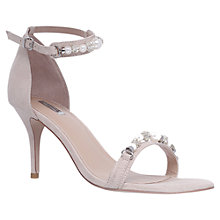 Buy Carvela Gel Embellished Stiletto Sandals, Nude Online at johnlewis.com