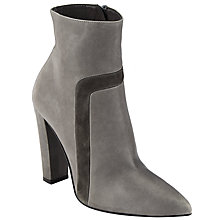 Buy Kin by John Lewis Otine High Ankle Boot, Grey Leather/Suede Online at johnlewis.com