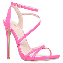 Buy Carvela Georgia Asymmetric Slim Strap Stiletto Sandals, Pink Online at johnlewis.com