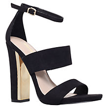 Buy Carvela Gossip High Block Heeled Sandals, Black Online at johnlewis.com