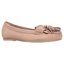 Buy Carvela Leah Leather Tassel Loafers, Nude Online at johnlewis.com