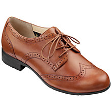Buy Hotter Dalton Leather Lace Up Brogues, Dark Tan Online at johnlewis.com