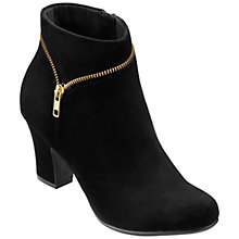 Buy Hotter Vanity Zip Detail Suede Ankle Boots Online at johnlewis.com
