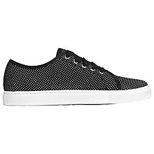 Buy L.K. Bennett Bette Lace Up Flat Trainer, Black Suede Online at johnlewis.com