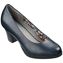 Buy Hotter Angelica Leather Block Heeled Court Shoes Online at johnlewis.com