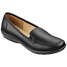 Buy Hotter Jazz Slip On Leather Loafers, Black Online at johnlewis.com