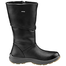 Buy Hotter Ribble Calf Length Leather Boots, Black Online at johnlewis.com