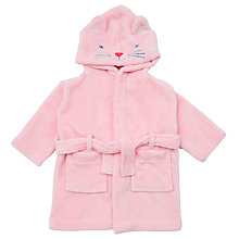 Buy John Lewis Baby Novelty Cat Robe, Pink Online at johnlewis.com