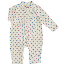 Buy John Lewis Baby Flower Bud Sleepsuit, Cream/Floral Online at johnlewis.com