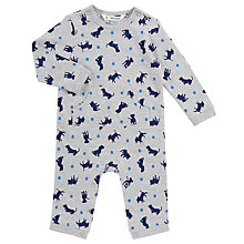 Buy John Lewis Baby Puppy Sleepsuit, Grey Marl Online at johnlewis.com