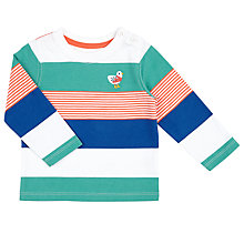 Buy John Lewis Baby Multi Stripe Long Sleeve T-Shirt, Multi Online at johnlewis.com