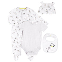 Buy John Lewis Baby 4 Piece Zebra Set, White/Multi Online at johnlewis.com