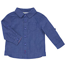 Buy John Lewis Baby Chambray Shirt, Blue Online at johnlewis.com