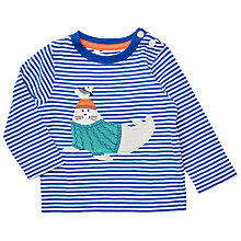 Buy John Lewis Baby Walrus Long Sleeve T-Shirt, Blue Online at johnlewis.com