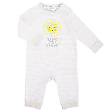 Buy John Lewis Baby Mummy Sunshine Sleepsuit, Grey Online at johnlewis.com