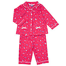 Buy John Lewis Baby Vintage Rose Pyjamas, Pink Online at johnlewis.com