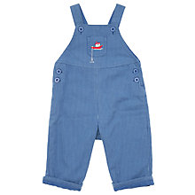 Buy John Lewis Ticking Boat Dungarees, Blue Online at johnlewis.com