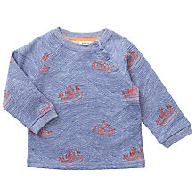Buy John Lewis Baby Sea Wave Sweatshirt, Blue Online at johnlewis.com