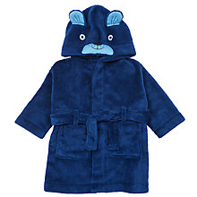 Buy John Lewis Baby Novelty Dog Robe, Blue Online at johnlewis.com