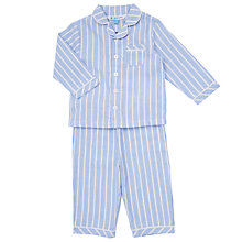 Buy John Lewis Baby Stripe Pyjamas, Blue Online at johnlewis.com