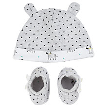 Buy John Lewis Baby Hat & Bootie Set, Grey Online at johnlewis.com