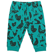 Buy John Lewis Baby Bird Print Joggers, Green Online at johnlewis.com