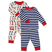 Buy John Lewis Baby London Pyjamas, Pack of 2, Blue/Red Online at johnlewis.com