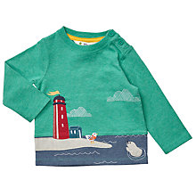 Buy John Lewis Baby Lighthouse Long Sleeve T-Shirt, Green Online at johnlewis.com