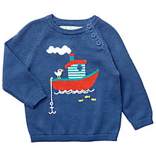 Buy John Lewis Baby Boat Jumper, Blue Online at johnlewis.com