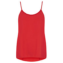 Buy Oasis Rope Neck Cami, Rich Red Online at johnlewis.com