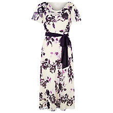 Buy Jacques Vert Cowl Floral Dress, Neutral Online at johnlewis.com