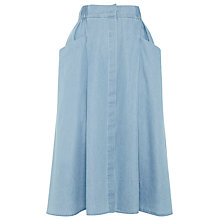 Buy Whistles Chambray Skirt, Pale Blue Online at johnlewis.com