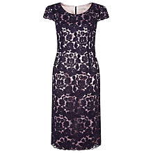Buy Jacques Vert Corded Lace Dress, Dark Purple Online at johnlewis.com