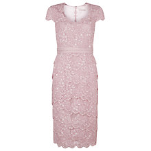 Buy Jacques Vert Tiered Lace Dress, Light Pink Online at johnlewis.com